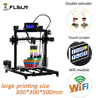 3d Printer 300*300*500mm I3 Large Size DIY Auto-level  Dual Nozzle Touch Screen