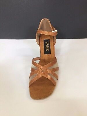TAN classic salsa, ballroom, latin dance shoes size 9.5