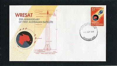 2017 50th Anniversary Of 1st Australian Satellite $1 S/A Stamp FDC, Mint Cond