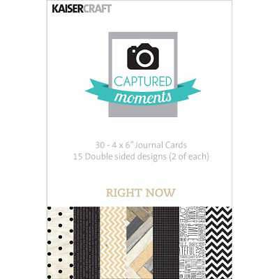 "Captured Moments Double-Sided Cards 6""X4"" 30/Pkg Right Now 883416283195"