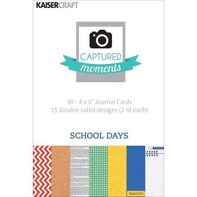 "Captured Moments Double-Sided Cards 6""X4"" 30/Pkg School Days 883416283225"