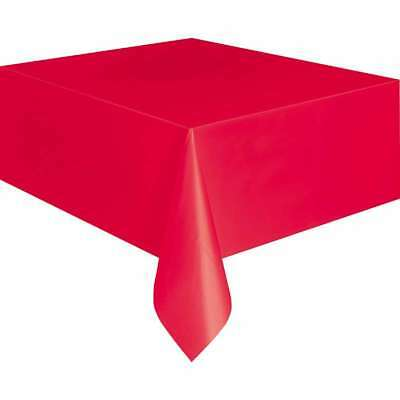 """Plastic Tablecover 54""""X108"""" Red 011179050949"""