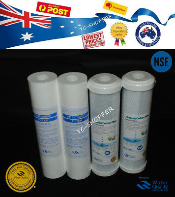 2 Set Replacement Water Filter Cartridges 0.5 Sediment + Nsf Coconut 0.5 Carbon
