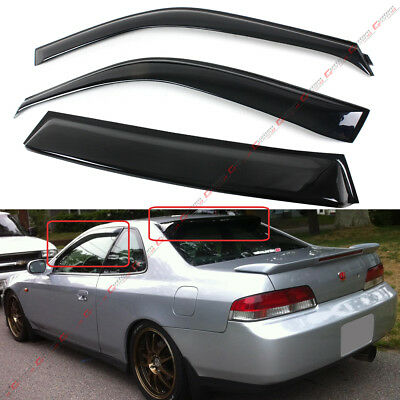 For 1997-01 5th Gen Honda Prelude JDM Rear Window Roof Visor + Door Visor Combo