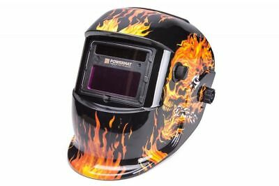 POWERMAT Auto Darkening Solar Powered Welders Welding Helmet Mask 110x90 lense