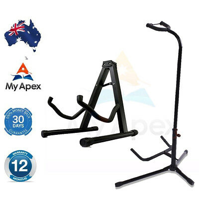 Portable Folding Electric Acoustic Bass Guitar Stand GIG Floor Rack Holder A / B