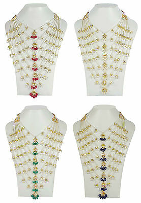 Indian Bollywood Style Fashion Gold Plated Wedding Bridal Necklace Jewelry