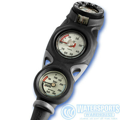 Mares Mission  Gauge Console For Scuba Divers With Depth, Contents And Compass