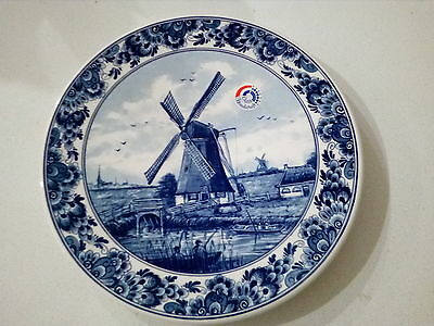 Blue and white Dutch Windmill decorative plate/wall hanging