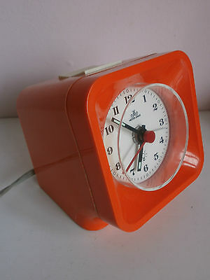 wecker anker pop art orange seventies