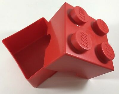 LEGO Storage Brick 1 2x2 Plastic Box Tub - Red Large - Perfect For Surprise Egg