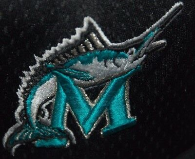 Vintage Miami Marlins Baseball Cap 1999 2002 Team New Era Black Mesh 7 1/2 3/8 L