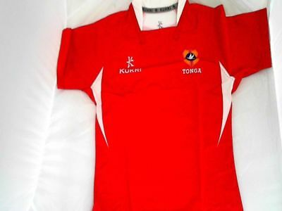 Brand New Men's Kukri Tonga Rugby Union Official Sports Pro Short Sleeved Shirt