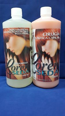 Cirugia Capilar Loren Seda / Original / 2 Pasos /1000 ML C/U / Color: Chocolate