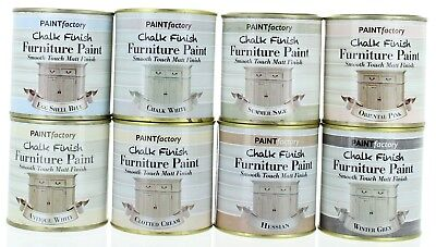 Chalk Finish Furniture Paint Smooth Touch Matt Finish 250ml - 8 Colours Home