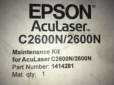 Maintenance Kit. Epson AcuLaser C2600N/2600N. Part Number 1414281. Original, New
