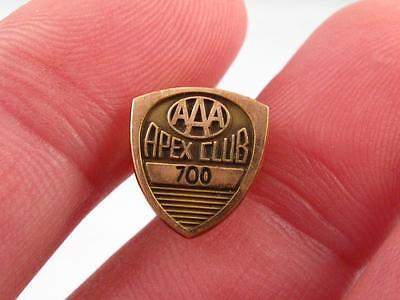 Aaa Apex Club `700` Gold Filled Pin  American Automobile Association