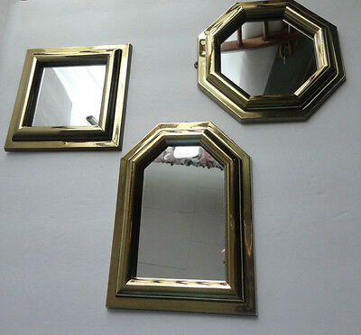 Home Interiors 3pc Set '' Gold Resin Mirrors '' Gorgeous
