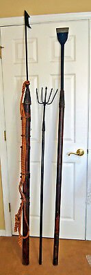 Vintage Whale Harpoon Maritime Whaling Toggle Spear Fishing 3 Piece Set