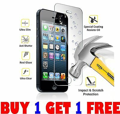 New 100% Genuine Tempered Glass Film Screen Protector For Apple Iphone 8Plus