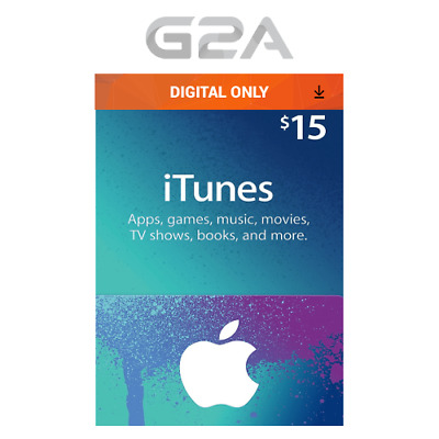 Apple iTunes $15 USD Key Gift Card - 15 Dollar US Store Code for iPhone iPad Mac