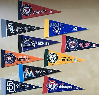 2017 MLB Baseball Mini Pennants *Free Shipping*