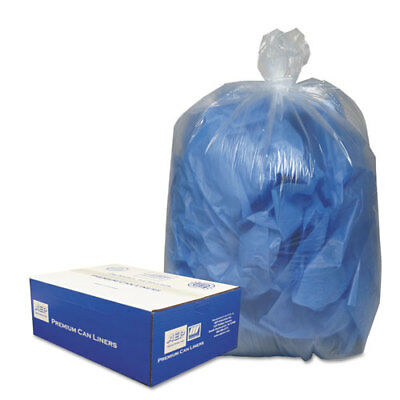 Clear Low-Density Can Liners, 7-10gal, .6mil, 24 x 23, Clear, 500/Carton