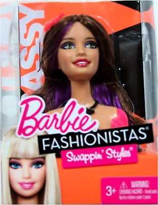 Barbie Fashionistas Swappin' Styles Sassy Head (Toy)