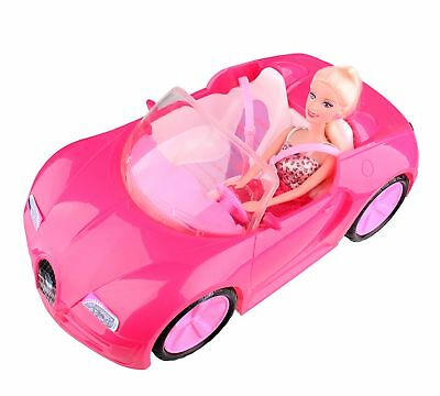 Glam Convertible Car for Barbie Doll
