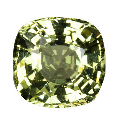2.210Cts Resplendent top luster green natural chrysoberyl cushion see video