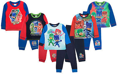 Boys Pj Masks Pyjamas Superhero Pjs Full Length 2 Piece Set Infants Nightwear