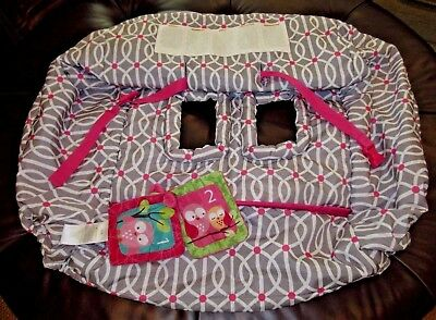 EUC BOPPY Shopping Cart and High Chair Cover in Park Gate Pink