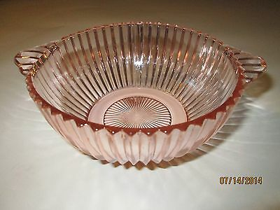 Depression Glass Queen Mary Lugged Soup Bowl Pink