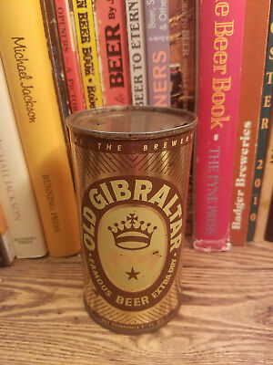 Old Gibraltar Extra Dry12oz Flat Top Beer Can  Higher Grade!