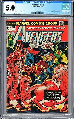 CGC 5.0 - The Avengers #112 (Jun 1973, Marvel) Mantis 1st appearance    VG/FN