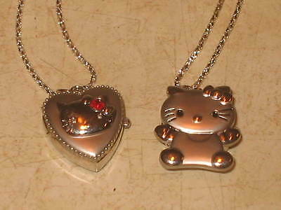 2 New Hello Kitty Pocket Watch Pendant Necklaces