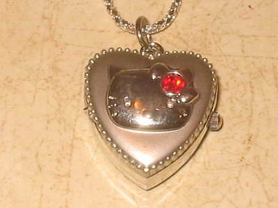 New Hello Kitty Pocket Watch Pendant Necklace #6