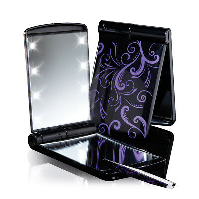 """JML """"Mirror Mirror"""" Light-Up Mirror With Built-in LED Lights, Foldable"""