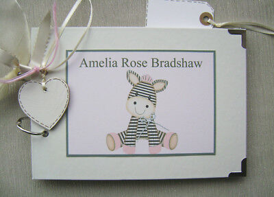 Personalised Baby Girl Birth/christening .a5 Size.. Photo Album/scrapbook/memory