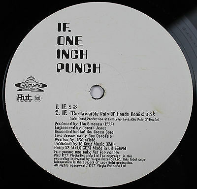 "ONE INCH PUNCH If 12"" vinyl PROMO vinyl UK 1997 Hut  Justin Warfield/Tim Simenon"