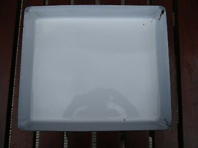 VINTAGE  Enamel  Photographic Developing Tray  14 inches x 12 inches