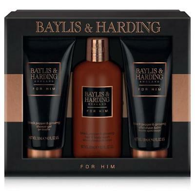 Baylis & Harding Black Pepper and Ginseng Gift Pack 3 Piece FREE P&P
