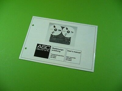 503KX1 Bedienungsanleitung / User's Manual für ASC electronic AS 6002 & AS 6004