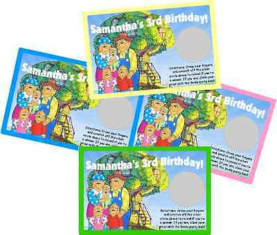 10 GARFIELD PERSONALIZED SCRATCH OFF OFFS BIRTHDAY PARTY GAME GAMES CARDS FAVORS