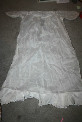 Antique1900's White Detailed Embroidery eyelets Long Christening Dress lace fine