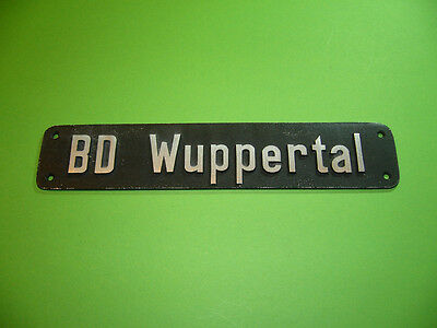 208R05 Lokschild BD Wuppertal, Bundesbahndirektion, Bahndirektion