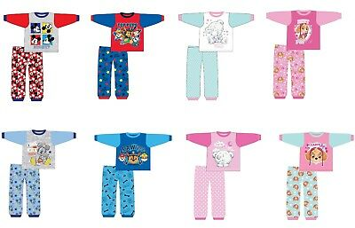 Baby Boys Girls Paw Patrol Me To You Skye Mickey Mouse Pyjamas Ages 6-24Mths