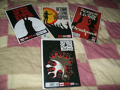 Return Of The Living Deadpool #1 2 3 4 Bunn Virella Digital Edition Marvel B9