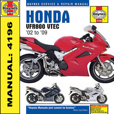 Honda VFR800 V-Tec 2002-2009 Haynes Manual 4196 NEW