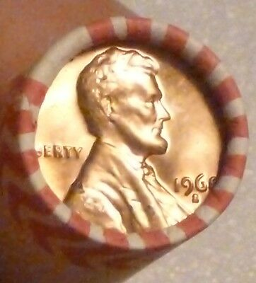 1968S Lincoln Memorial Cent Uncirculated Original Penny Sealed Rolls